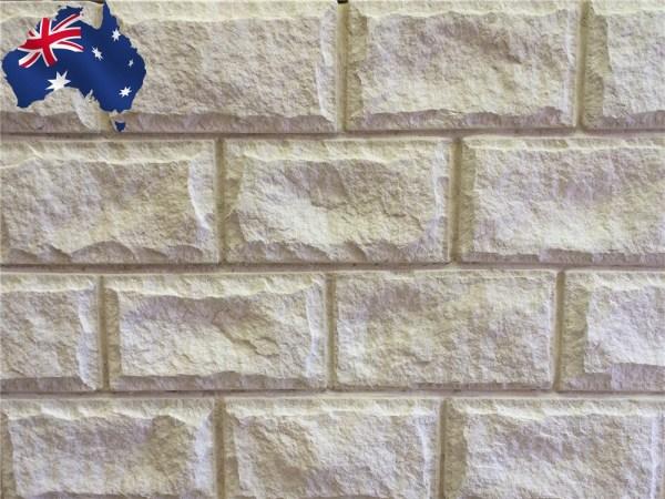 White Rockface sandstone walling