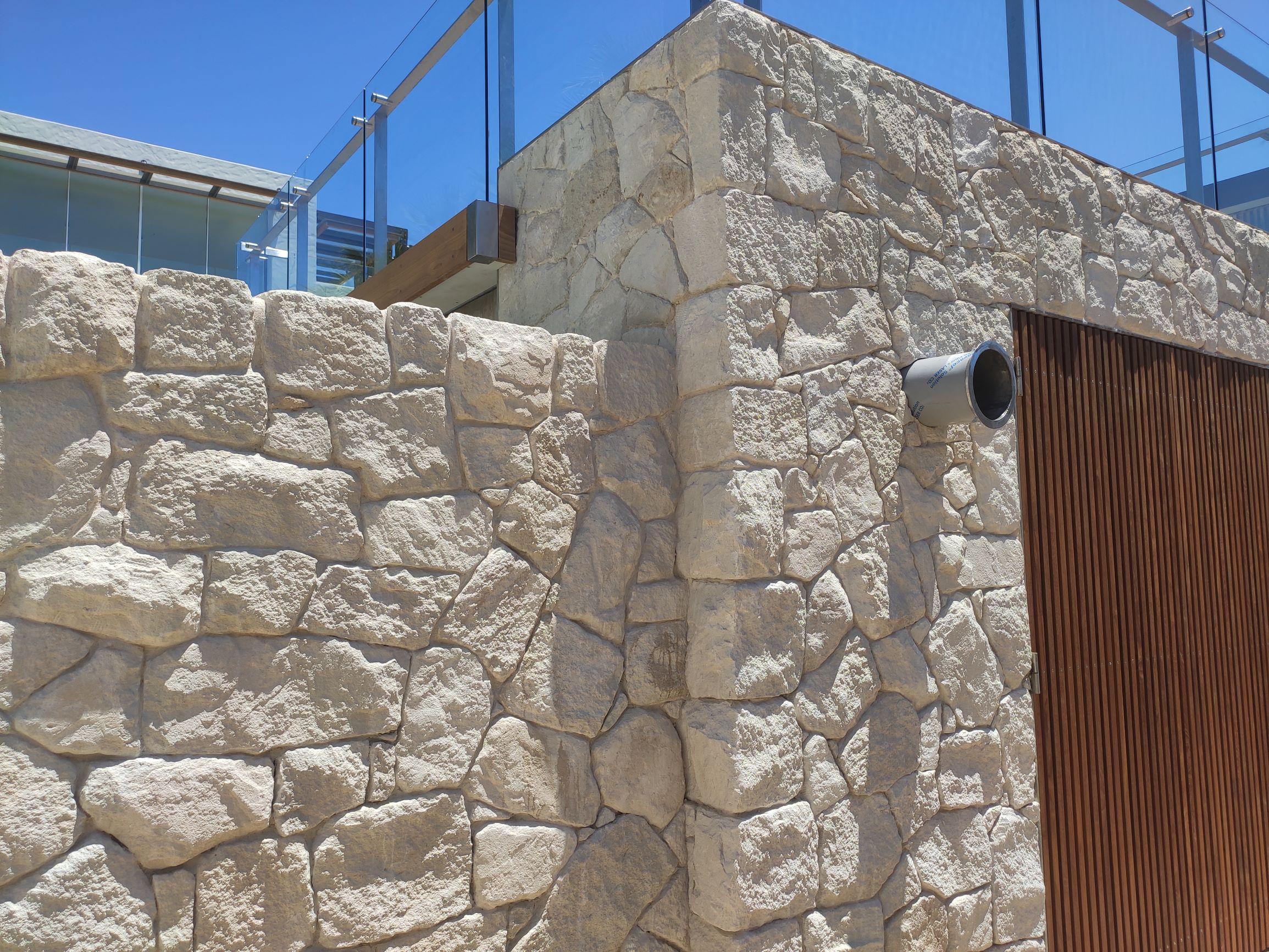 Australian white sandstone walling