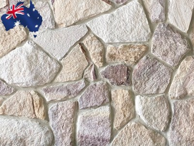Ranch irregular Australian sandstone cladding