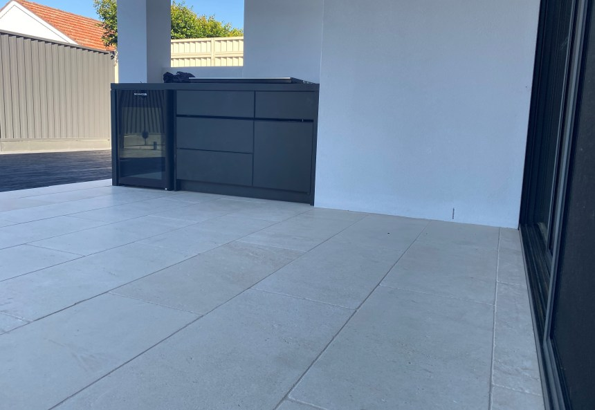 Derby limestone paver used in swimming pool area