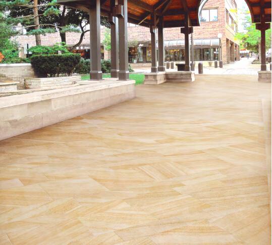 Urban series porcelain sandstone used in residential flooring project