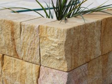Garden edging stone