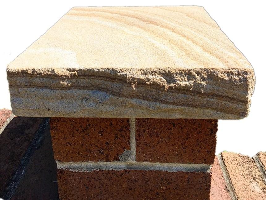 sandstone capping, stone caps