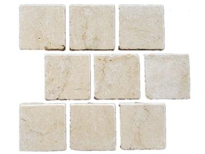 Cattai tumbled marble cobblestone brick pattern
