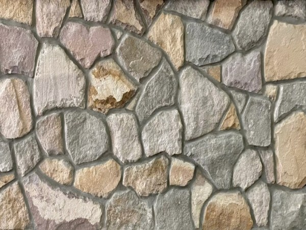 York irrgular mixed grey and beige sandstone cladding for interior and exterior walling