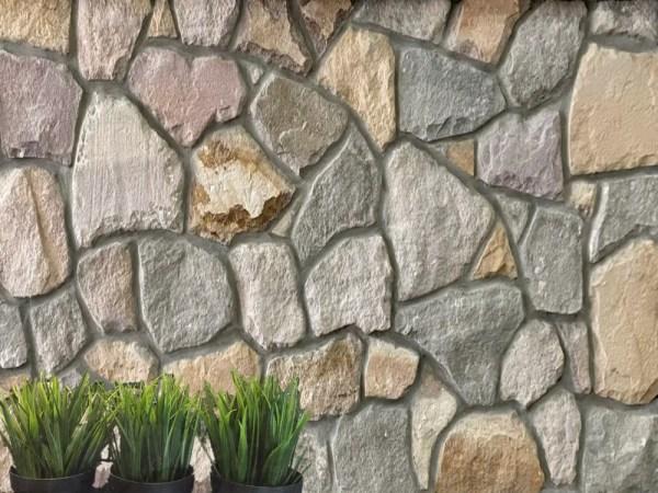 York irrgular mixed grey and beige sandstone Interior & Exterior Wall Cladding Stone