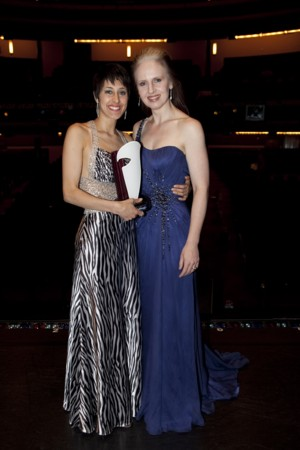 rob guest endowment - 2009 winner Danielle Matthews with Kellie Dickerson
