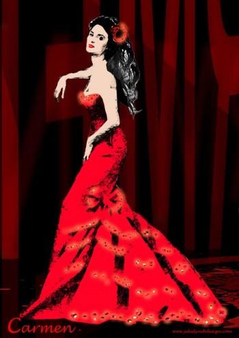 Handa Opera's Carmen - costume design by Julie Lynch. Photo courtesy of Opera Australia