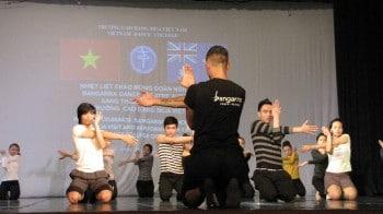 Bangarra workshop with Vietnam Dance College in Hanoi - 28 February 2013