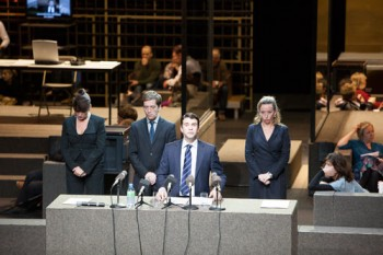 L-R Renee Fokker, Eelco Smits, Jacob Derwig and Marieke Heebink in Roman Tragedies. Image by Jan Versweyveld.