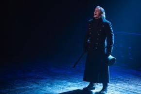 Hayden Tee as Javert in Les Miserables. Image by Matt Murphy