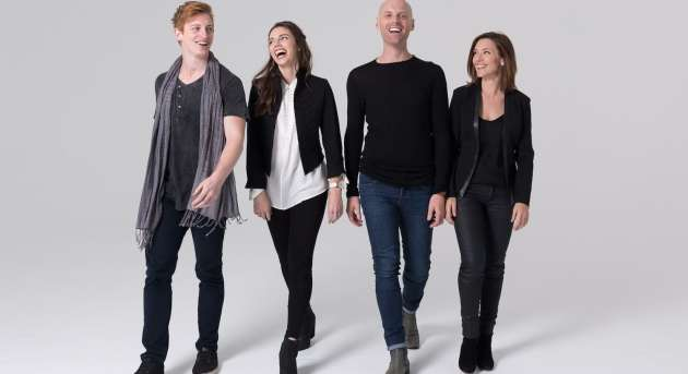 Linden Furnell, Teagan Wouters, John O'Hara and Natalie O'Donnell in Songs for a New World, Melbourne