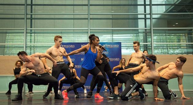 Paulini and ensemble of The Bodyguard