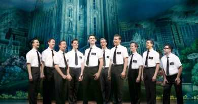 Ryan Bondy, Nyk Bielak and the Elders from THE BOOK OF MORMON. Image by Jeff Busby