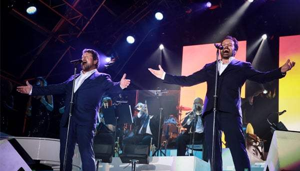 Alfie Boe and Michael Ball. Photo by Christie Goodwin.