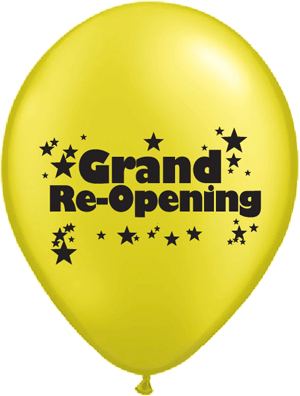 GRAND Re-Opening Day!