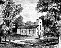 Illustration of Chawton Church, A Memoir of Jane Austen, (1871)