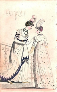 Afternoon Dress fashion plate from Ladies Museum Monthly 1800