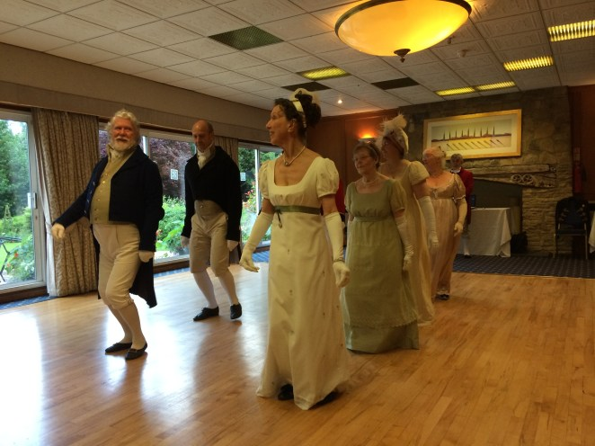 Regency Hampshire Dancers demonstration