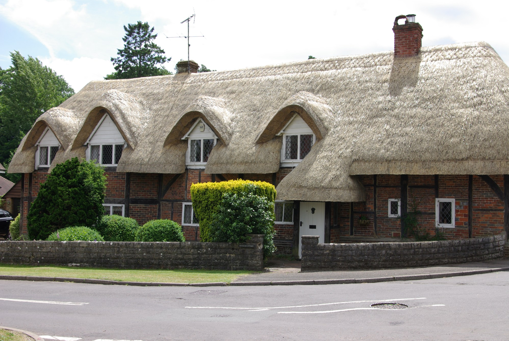 A Newly Thatched Cottage