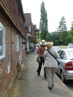 Susan and Abigail walking into Chawton