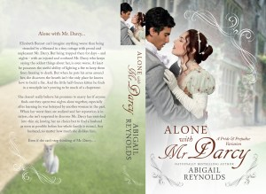 Alone with Mr Darcy Cover PAPERBACK PRINT with Snowdrop