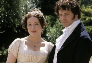 Jennifer Ehle and Colin Firth in Andrew Davies' Pride and Prejudice, 1995