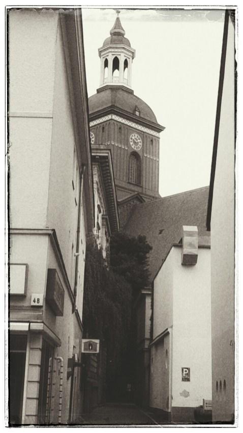 Blick auf die St.-Nikolai-Kirche (uff alt gemacht ,-)