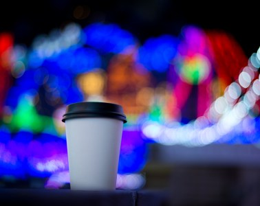 Mozart's Coffee Roasters diner porch christmas lights display show holiday winter drinks food
