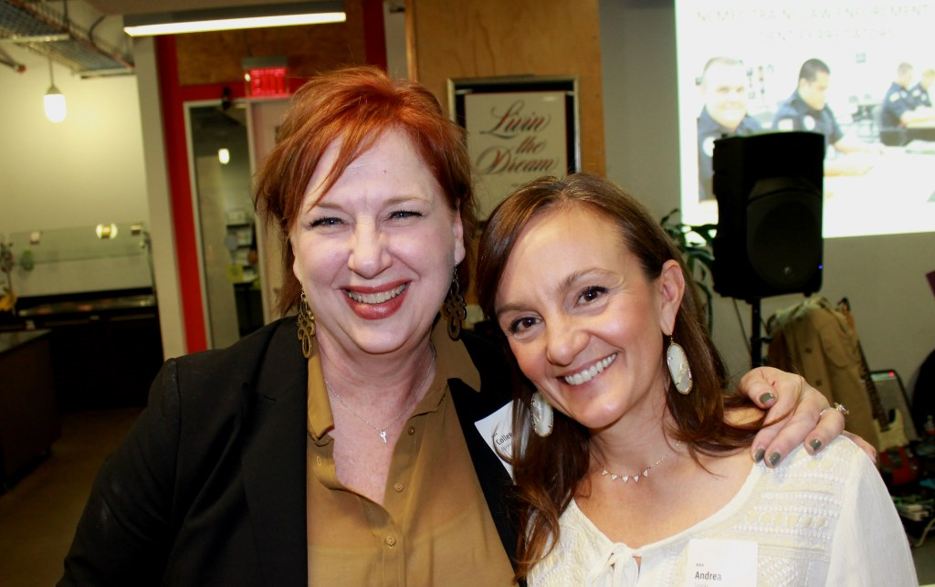 Colleen Brewer (left) and Andrea Sparks, from the National Center for Missing and Exploited Children Texas Regional Office.