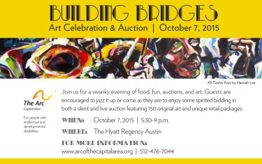 Arc of the Capital Area presents: Building Bridges Art Celebration & Auction
