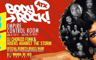 Body Rock ATX presents: R&B from A to Z (The Rebirth Brass Band Afterparty!)