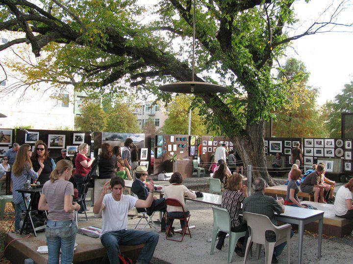 The Courtyard at Hot Mama's Cafe. Photo: Courtesy, Hot Mama's Cafe