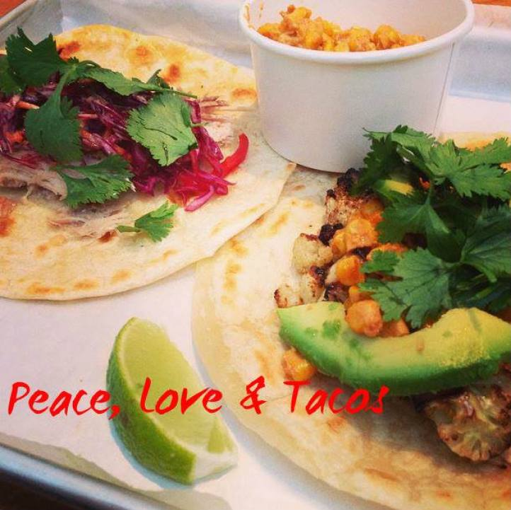 peace and love tacos from Fork and Taco