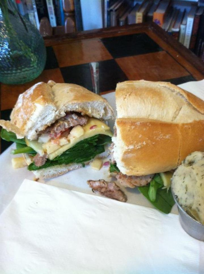 apple pork sandwich at Foodheads