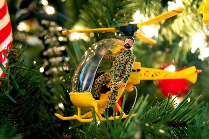 G.I. Joe christmas tree ornament UT university texas keep austin weird holiday spirit