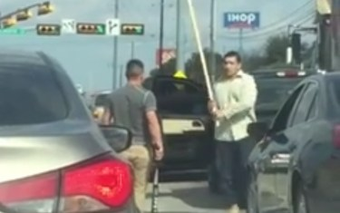 Austin Drivers Fight With Sticks In Road Rage Incident