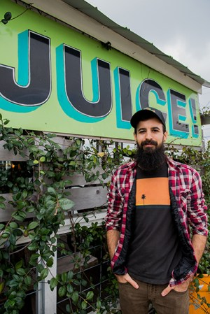 Joshua Leather, manager of JuiceLand's North Burnet store. Favorite flavors: Julio Verde, Wundershowzen, Originator