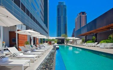 Go For the Sweat and Stay for The Wet at The W's Poolside Barre Class