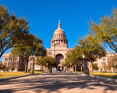 Standing at  308 feet, the Texas State Capitol is located in Austin, Texas and is the fourth building in Austin to serve as the seat of Texas government. It houses the chambers of the Texas Legislature and the office of the governor of Texas.