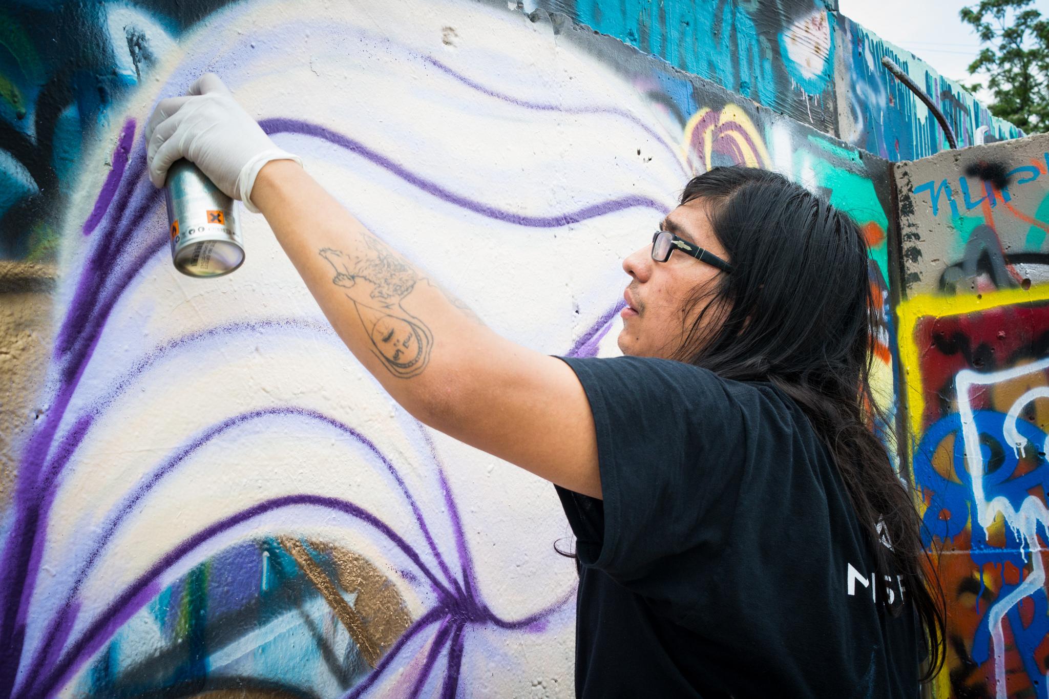 street art artist hope outdoor gallery graffiti spray paint mural wall painting