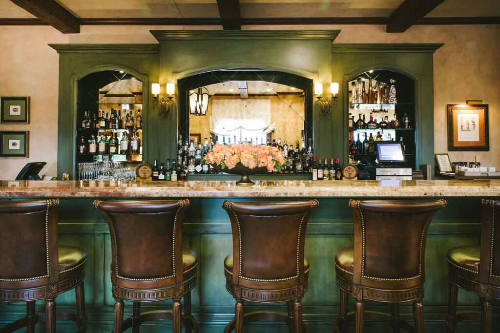 The bar at Visconti Ristorante & Bar. Photo courtesy Hotel Granduca Austin.
