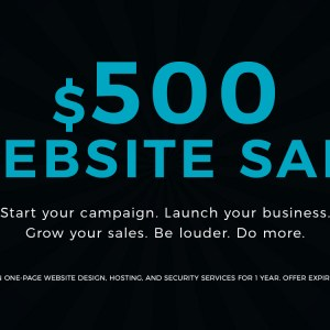 Save 75% Off A Fully Customized Website!