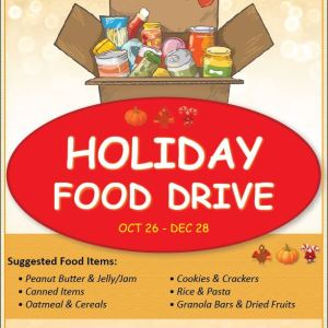 Holiday Food Drive to Benefit Local Food Banks
