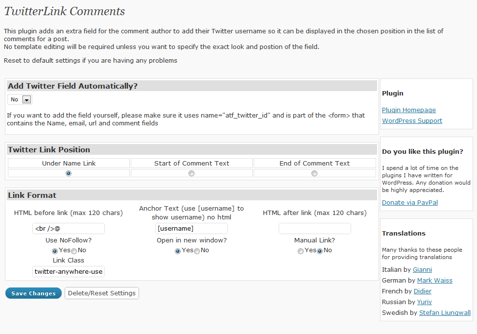 How to: add a twitter field to your comments in Hybrid Framework 0 8