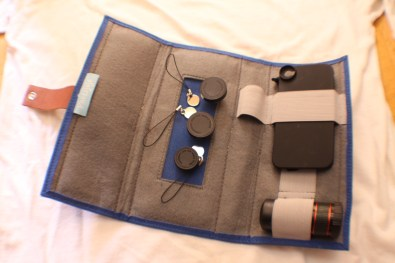 Photojojo iPhone lens wallet open