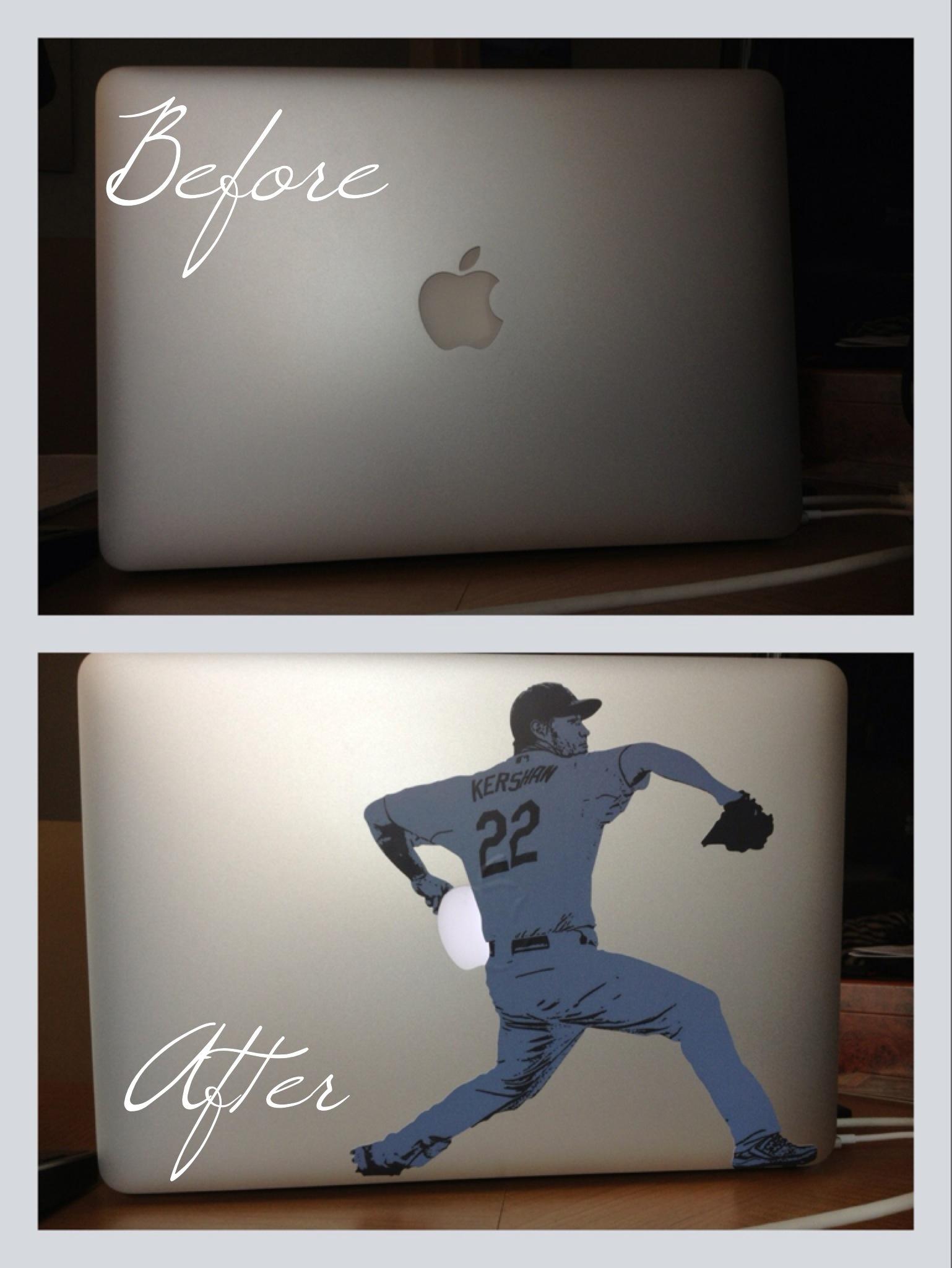 Clayton Kershaw MacBook Sticker