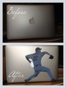 Clayton Kershaw MacBook Sticker