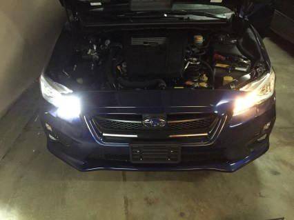 SubiSpeed OLM LED DRL/High-beam vs Stock