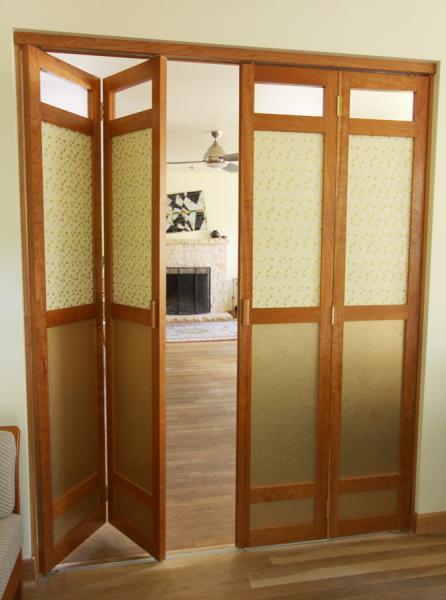 Double Cherry Bi Folding Doors Michael Yates Design The Guild Of Austin Artisans